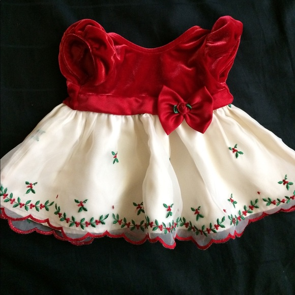 George Dresses Redcream Newborn Holiday Formal Infant Dress Poshmark
